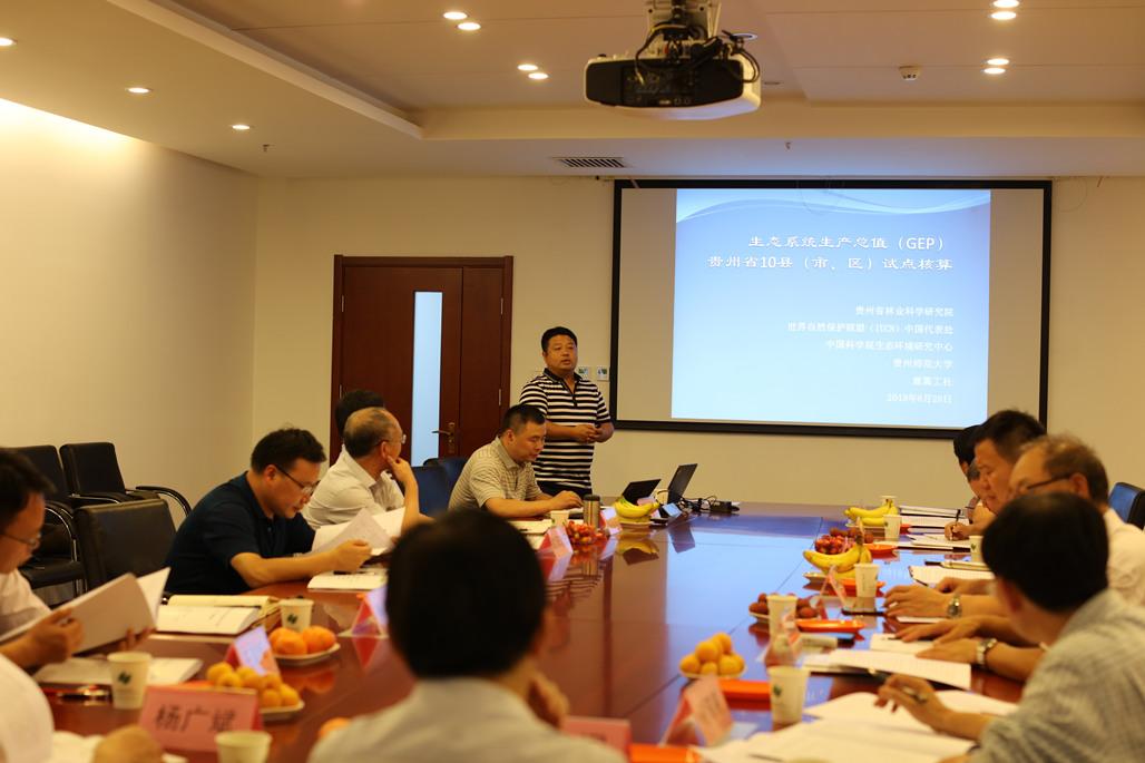 贵州10县生态系统生产总值(GEP)核算研究成果通过论证